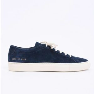 Common Projects Navy White Suede Achilles Sneakers
